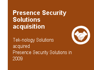 Presence Security Solutions acquisition